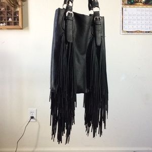 Harley-Davidson Bags - Big Long Fringe Motorcycle Country Black Purse